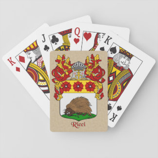 Ricci Heraldic Shield and Mantle Playing Cards