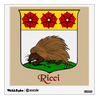 Ricci Historical Shield on Parchemnt Style Wall Sticker