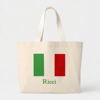 Ricci Italian Flag Large Tote Bag