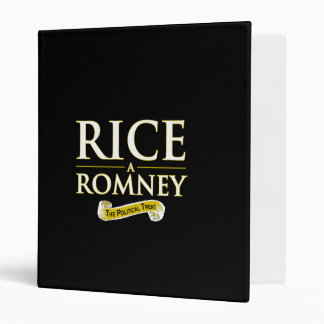 RICE-A-ROMNEY 3 RING BINDER