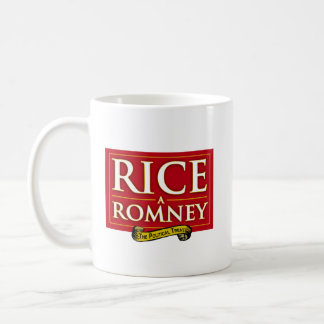 RICE-A-ROMNEY CLASSIC WHITE COFFEE MUG