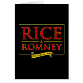 RICE-A-ROMNEY LABEL 2012.png Greeting Card
