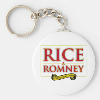 RICE-A-ROMNEY LABEL 2012 png Keychain