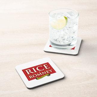 RICE-A-ROMNEY LABEL COASTER