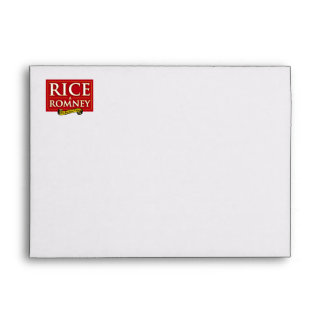 RICE-A-ROMNEY LABEL ENVELOPE
