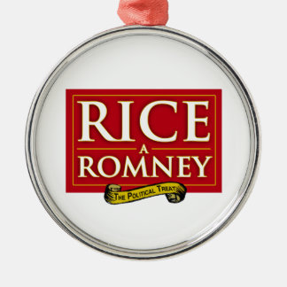 RICE-A-ROMNEY LABEL CHRISTMAS TREE ORNAMENT