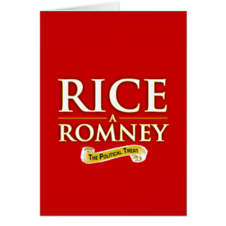 RICE-A-ROMNEY LABEL -.png Greeting Card