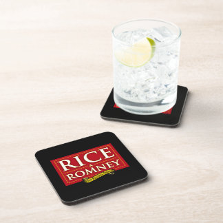 RICE-A-ROMNEY LABEL.png Drink Coaster