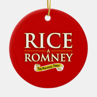 RICE-A-ROMNEY LABEL -.png Christmas Tree Ornament