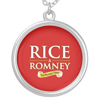 RICE-A-ROMNEY LABEL -.png Round Pendant Necklace