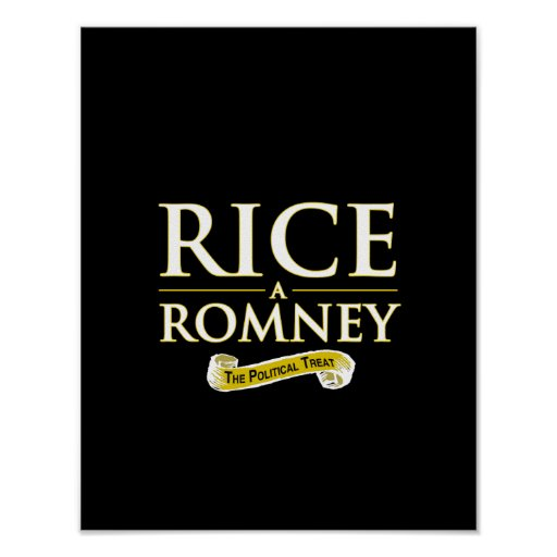 RICE-A-ROMNEY POSTER