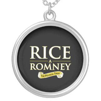 RICE-A-ROMNEY ROUND PENDANT NECKLACE