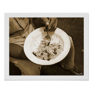 Rice and Beans, History, Puerto Rico Poster