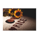 Rice And Sunflowers Stretched Canvas Print