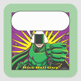 Rice Ball Guy Square Sticker