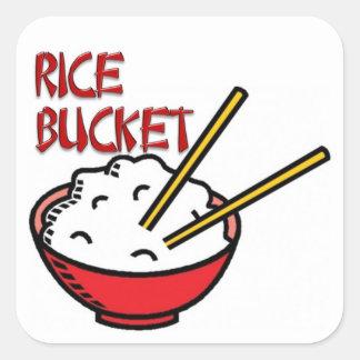 Rice Bucket Square Sticker
