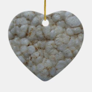Rice Cake ,  Healthy Food, White Snack Ceramic Ornament