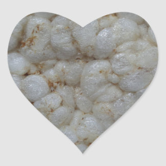 Rice Cake ,  Healthy Food, White Snack Heart Sticker