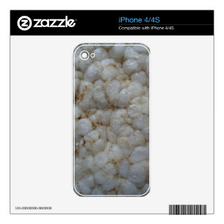 Rice Cake ,  Healthy Food, White Snack iPhone 4 Decal