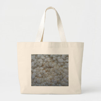 Rice Cake ,  Healthy Food, White Snack Large Tote Bag