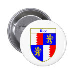 Rice Coat of Arms/Family Crest 2 Inch Round Button