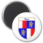 Rice Coat of Arms/Family Crest 2 Inch Round Magnet