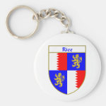 Rice Coat of Arms/Family Crest Basic Round Button Keychain