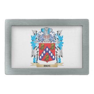 Rice Coat of Arms - Family Crest Rectangular Belt Buckle