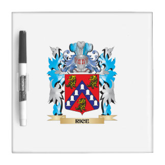 Rice Coat of Arms - Family Crest Dry Erase Whiteboard