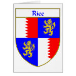 Rice Coat of Arms/Family Crest Greeting Card