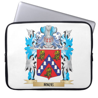 Rice Coat of Arms - Family Crest Computer Sleeve