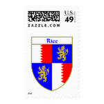 Rice Coat of Arms/Family Crest Postage