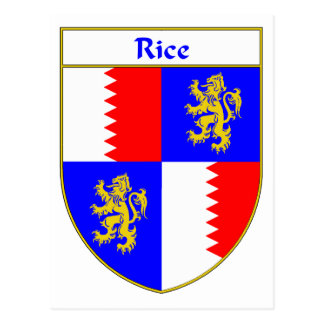 Rice Coat of Arms/Family Crest Postcard