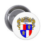 Rice Coat of Arms (Mantled) 2 Inch Round Button