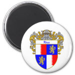 Rice Coat of Arms (Mantled) 2 Inch Round Magnet