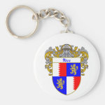 Rice Coat of Arms (Mantled) Basic Round Button Keychain