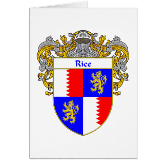 Rice Coat of Arms (Mantled) Card