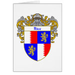 Rice Coat of Arms (Mantled) Greeting Card