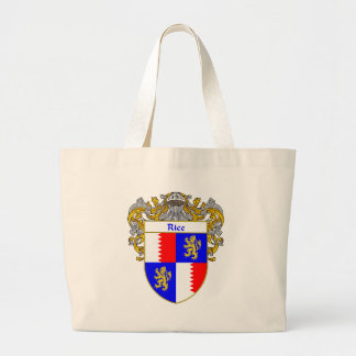 Rice Coat of Arms (Mantled) Large Tote Bag