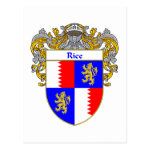 Rice Coat of Arms (Mantled) Postcard