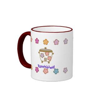 Rice Cooker and Tea Pot Ringer Coffee Mug