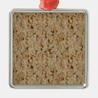 Rice Crispy Treat Square Metal Christmas Ornament