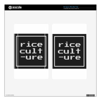 Rice Culture with frame Kindle Fire Skin