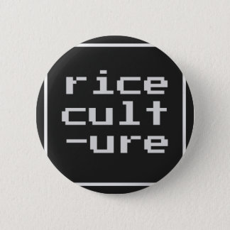 Rice Culture with frame Pinback Button