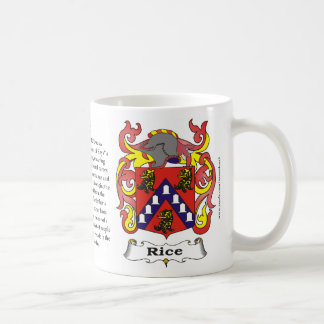 Rice Family Coat of Arms Mug