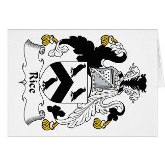 Rice Family Crest Card