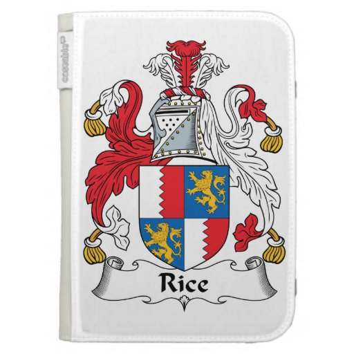 Rice Family Crest Kindle 3G Cover