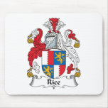 Rice Family Crest Mouse Mats