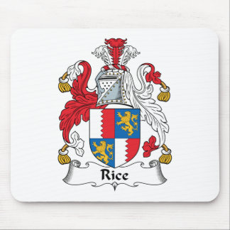 Rice Family Crest Mouse Pad