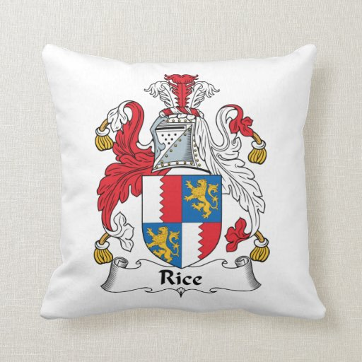 Rice Family Crest Pillows